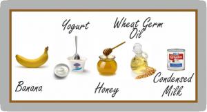 Prepoo-banana-yogurt-honey-wheat-germ-oil-and-condensed-milk